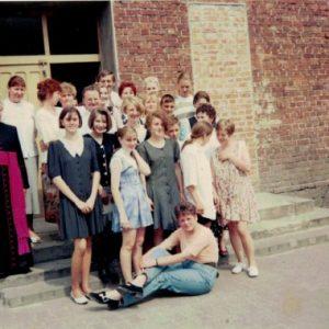 1980 Ks. Józef Osyda, Andrzejewska, Nowicka, Klukaczyńska, Herman, Nejman, Walerian, Zborowska