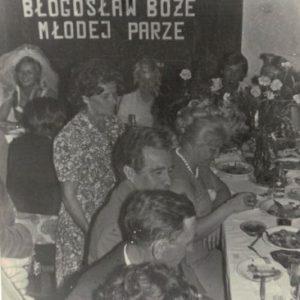 1975 r. wesele w domu