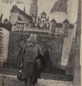 1961 r. Agnieszka Kołodziejek zd Gralińska na Jasnej Górze.