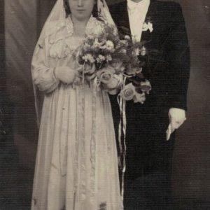 1950 r. Alfreda i Brunon Kokorzyccy