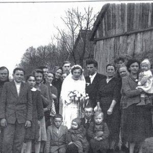 1958 r. ślub państwa Gąsienniców