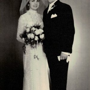 1969 r. Ślub kościelny Jadwigi i Franciszka Lorenców