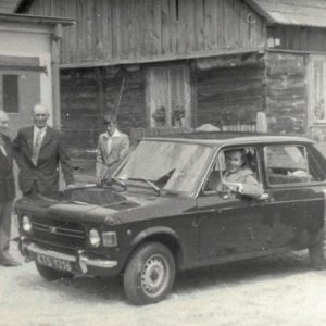 1981 r. Drewniany dom państwa Zborowskich