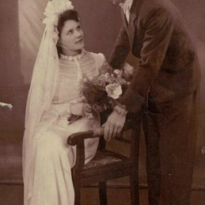 1945 r. Pierwszy po wojnie ślub Anny i Czesława Kokorzyckich