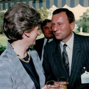 Michał Kołodziejek jako pracownik BOR z Panią Premier Anną Suchocką