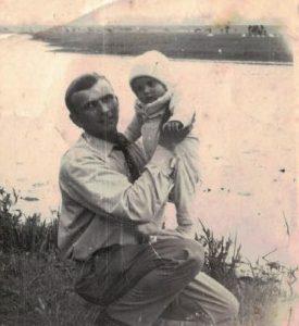 Kazimierz Graliński z córką.