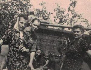 Czesław Kokorzycki na robotach w czasie wojny.