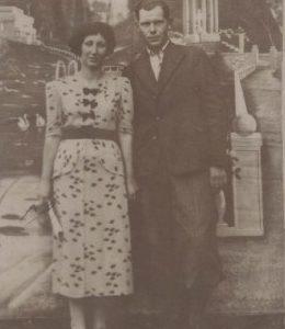 Czesław Kokorzycki z panną.