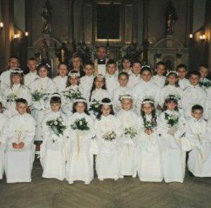 1986 ks. Piotr Głowacki i katechetki Agnieszka Wasiak, Gabriela Mikusik