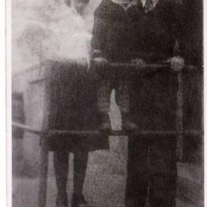 Marianna, Henryk i Jerzy Perkowscy.