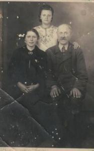 1941 r. Helena i Władysław Ciesielscy z córką Kazimierą